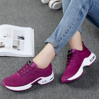 New Trendy Women Sneakers Fly Weave Breathable Women Running Shoes Soft Non-Slip Sole Womens Trainers Outdoor Sports Jogging Shoes(purple) - intl - 3
