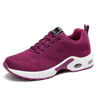 New Trendy Women Sneakers Fly Weave Breathable Women Running Shoes Soft Non-Slip Sole Womens Trainers Outdoor Sports Jogging Shoes(purple) - intl - 5