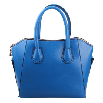 New Women PU Leather Frosted Handbag Shoulder Bags Tote Purse Bag Blue - picture 2