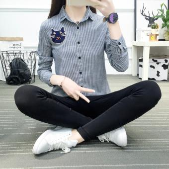 New Women's Fashion Slim Long Sleeve Shirt Lady Shirts Blouses Tops - intl - 2