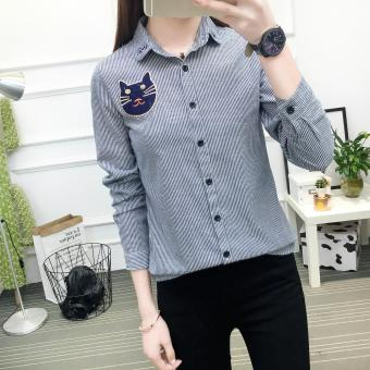New Women's Fashion Slim Long Sleeve Shirt Lady Shirts Blouses Tops - intl