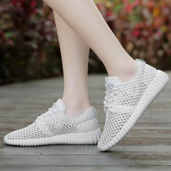 New Women's Fashion Sneakers Shoes for Women Ladies Girls Spring Autumn Summer sport Lightweight walking shoes Breathable Lovers casual Shoes Loafers Woman Flats Plus Size 35-40 Slip-on Network Shoes - intl