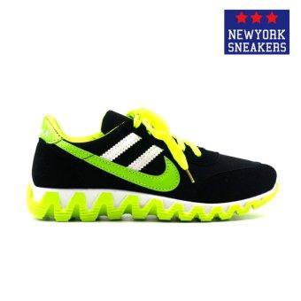 New York Sneakers Alea Rubber Shoes(BLACK/GREEN) - 2