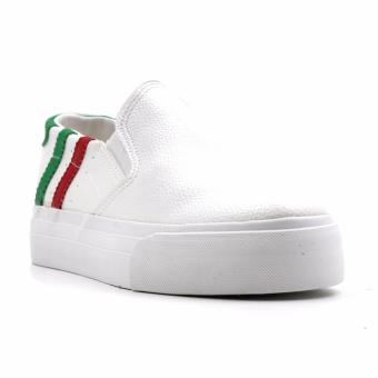 New York Sneakers Alice Slip On Shoes(WHITE/RED/GREEN)