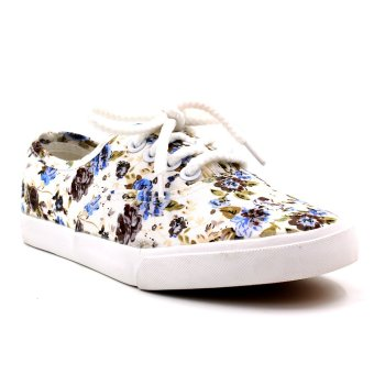 New York Sneakers Amelie Floral Shoes (Blue)