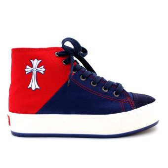 New York Sneakers Aviana High Cut Shoes (Blue/Red) - 2