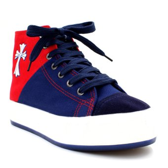 New York Sneakers Aviana High Cut Shoes (Blue/Red)