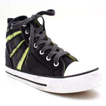 New York Sneakers Bree High Cut Shoes (Black/Green)