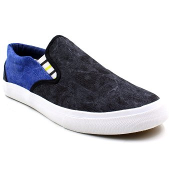 New York Sneakers Damari Slip Ons Shoes (Black/Blue)