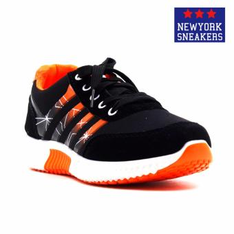 New York Sneakers Everly Rubber Shoes(BLACK/ORANGE)