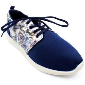 New York Sneakers Floral Running Shoes (Blue)