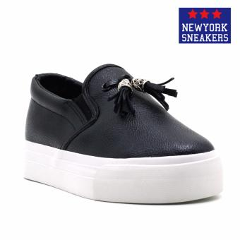 New York Sneakers Hayes Slip On Shoes(BLACK)