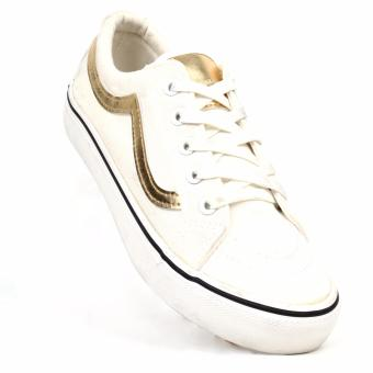 New York Sneakers Lynette Low Cut Shoes(WHITE/GOLD)