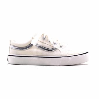 New York Sneakers Lynette Low Cut Shoes(WHITE/SILVER) - 2