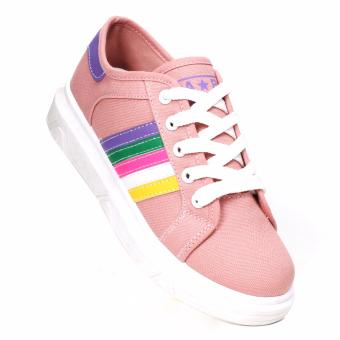 New York Sneakers Mimi Low Cut Shoes (Color Sand Pink)