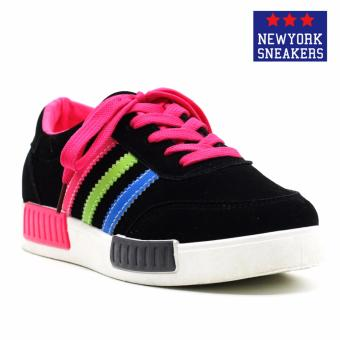 New York Sneakers Oatley Rubber Shoes(BLACK/PINK)
