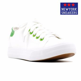 New York Sneakers Pansy Low Cut Shoes(WHITE/LIGHT GREEN)