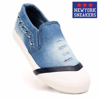 New York Sneakers Shay Slip on Shoes (Light Blue)