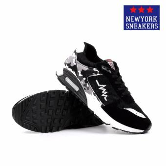 New York Sneakers Trent Rubber Shoes(BLACK/WHITE) - 3