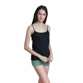 Newyork Army Ladies Spaghetti Strapped Top - Black