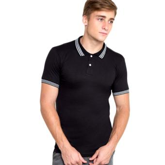 Newyork Army Men's Jacquard Polo Shirt - Black