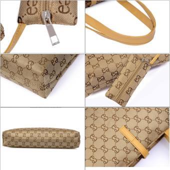 niceEshop Womens Nylon Tote Bag Shoulder Handbag With Zipper For Shopping, Khaki - 5