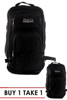 Nick Co 017 Plain Military Outdoor Backpack (Black) BUY 1 TAKE 1
