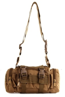 NICK Men's 182 Military Messenger Bag (Khaki)