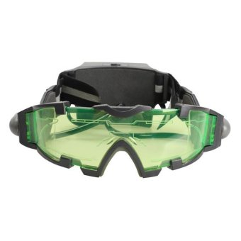 Night Vision Goggles Green Tinted Lens LED Lights for Outdoor