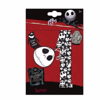 Nightmare Before Christmas Lanyard with Charm and ID Holder