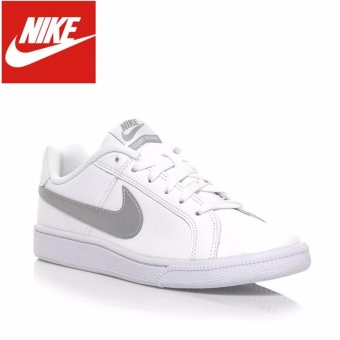 Nike Court Royale Womens 749867-100 White Silver Leather 100% Authentic - intl