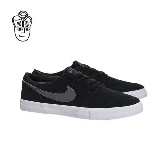 Nike SB Portmore II Solar Skateboard Shoes Black / Dark Grey-White 880266-001 -SH