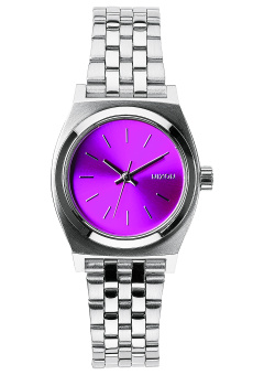 Nixon Small Time Teller Women's Silver Stainless Steel Strap Watch A399-1972
