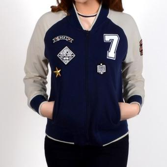No Apologies Bomber Jacket Nlt10-0066 (Navy Blue)