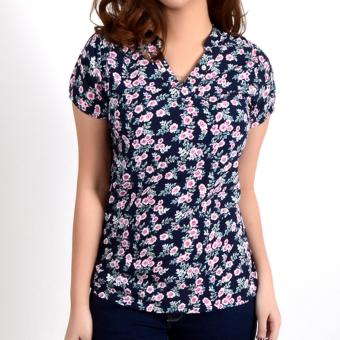 No Apologies Printed Rayon S/S Blouse Nft04-0325 (N.Blue) Price Philippines