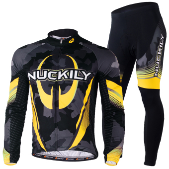 NUCKILY Men's Cycling Apparel Bike Jersy Tights Outfit for RoadRiding Small