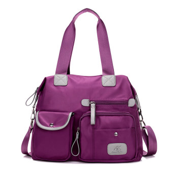 Nylon Oxford Cloth Jianyue big bag Korean-style plain weave bag (Purple 1180 Oxford Cloth Bag)