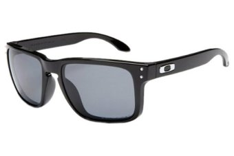 black oakley holbrook sunglasses ay24  Oakley Holbrook OO9102-02-55 Polarized Sunglasses Polished Black