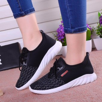 Ocean 2017 New Women movement Running shoes leisure breathableCloth shoes (Black) - intl