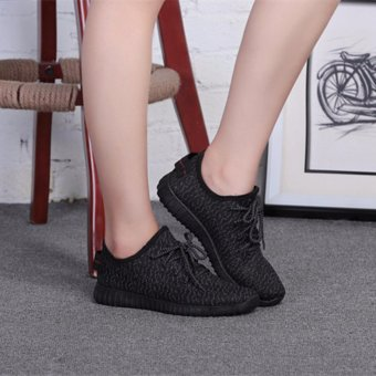 Ocean Ladies fashion Running shoes Han edition leisure coconutLace-up shoes (Black) - intl