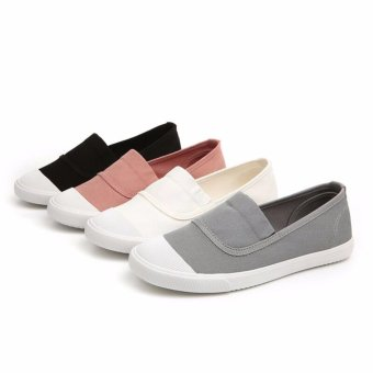 Ocean NEW Ladies fashion Flat shoes Han edition Canvas shoes(Grey) - intl - 3