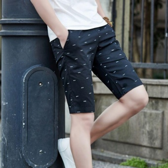 Ocean New Men Fashion Chino Shorts Leisure Teenagers printingCotton shorts(Black) - intl - 3