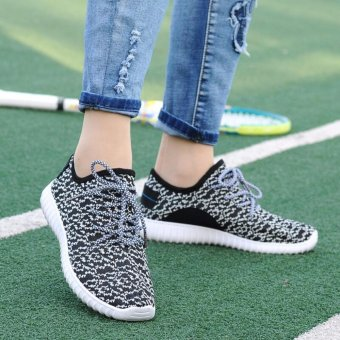 Ocean NEW Women motion Running shoes leisure breathable Net shoes(Black) - intl