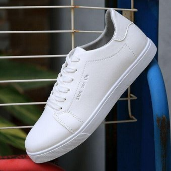 Ocean Ocean leather shoes Men's Fashion Sneakers TrendBreathable(White) - intl - 3
