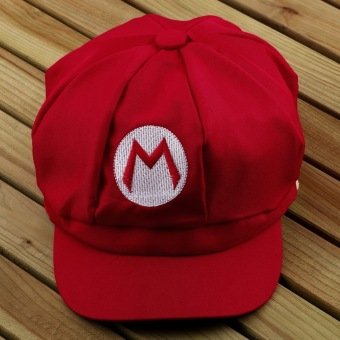 OH Chic Luigi Super Mario Bros Cosplay Adult Size Hat Cap Baseball Costume New Red M - 3