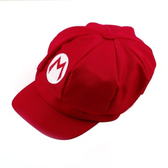 OH Chic Luigi Super Mario Bros Cosplay Adult Size Hat Cap Baseball Costume New Red M - 4