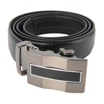 OH Classical Automatic Belt Buckle Genuine Leather Belts Mens Waist Strap - 3