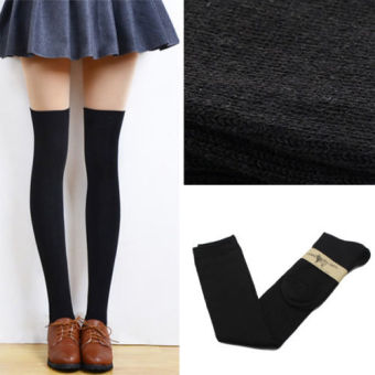 Okdeals Fashion Girls Women Thigh High OVER the KNEE Socks Long Cotton Stockings Black