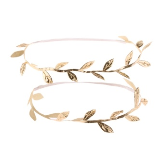 Okdeals Gold Mummy & Infant Toddler Delicate Boho Gold Leaf Headband Goddess Headwear Hair Accessories - intl - 2
