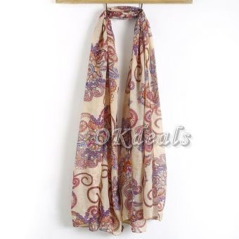 Okdeals Womens Ladies Long Soft Chiffon Scarf Wrap Large Silk Winter Shawl Stole Scarves - intl